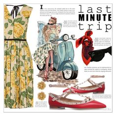 """""""Last Minute Trip: Me, My Moped And My Map!"""" by leoll ❤ liked on Polyvore featuring Marc Jacobs, Valentino, Just Cavalli, Ray-Ban, Miriam Haskell and lastminutetrip"""