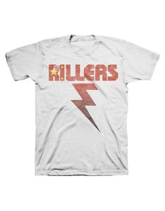 The Killers China Flag Bolt Mens T-Shirt - Guaranteed Authentic.  Fast Shipping.