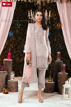 Gulaal Grey Pink Premium Wedding Collection 2017 Price in Pakistan famous brand online shopping, luxury embroidered suit now in buy online & shipping wide nation. Pakistani Wedding Outfits, Pakistani Dresses, Indian Dresses, Indian Outfits, Pakistani Couture, Pakistani Bridal, Indian Fashion Trends, Asian Fashion, Desi Clothes