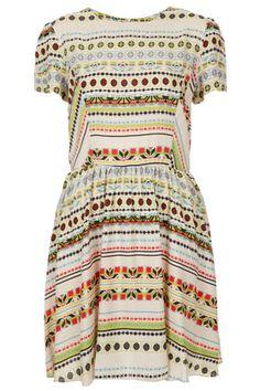 Multi Stripe Skater Dress