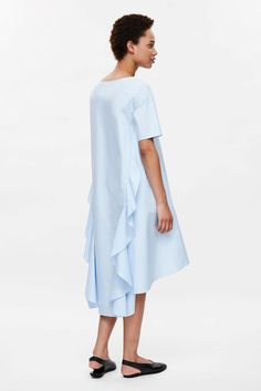$50 COS image 2 of Oversized dress with back frill in Pale Blue