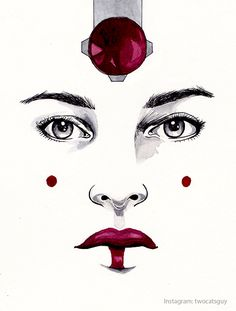Ink and Watercolor, Queen Amidala, Star Wars
