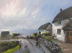 PETE RUMNEY FINE ART BUY ORIGINAL PAINTING CANVAS WALL PICTURE TRANQUIL SEASIDE in Art, Direct from the Artist, Paintings | eBay!