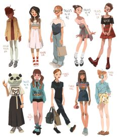 Ideas for fashion illustration sketches poses animation Character Design Cartoon, Character Design References, Character Drawing, Character Design Inspiration, Female Drawing, Art And Illustration, Character Illustration, Pretty Art, Cute Art