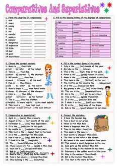 Nice Grammar Practice Worksheets Comparatives And Superlatives that you must know, Youre in good company if you?re looking for Grammar Practice Worksheets Comparatives And Superlatives Teaching English Grammar, English Grammar Worksheets, English Vocabulary, Teaching Spanish, Kids English, English Lessons, Learn English, French Lessons, Spanish Lessons