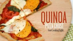 How to Make Quinoa Pizza Crust | Cooking Light Healthy Chicken Recipes, Healthy Snacks, Healthy Eating, Clean Eating, Healthy Pizza, Healthy Life, Quinoa Pizza Crust, Quinoa Bread, Squash Pizza