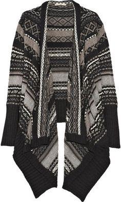 007456d007ce2a ShopStyle: Haute Hippie Merino wool striped jacquard cardigan Drape  Cardigan, Striped Cardigan, Open