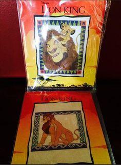 Disney Lion King Mufasa & Simba, Young Love,  Cross Stitch Kits, Lot of 2 NIP #JustCrossStitch