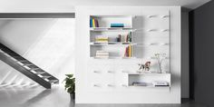 Dots bookshelf has been designed by Aris Architects for Polarislife, and it has been conceived as a fitted vertical space which can be adapted to any environment.
