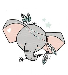 Stickdatei Boho Elefant Kopf Super cute boho elephant as a doodle embroidery file. For private use i Baby Animal Drawings, Cute Drawings, Embroidery Files, Embroidery Patterns, Scrapbooking Image, Zentangle Elephant, Elephant Head, Baby Scrapbook, Doodle Art