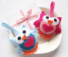 Little cute handmade Felt owls.