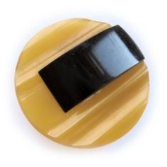 Vintage Large 1920's Art Deco Butterscotch Bakelite Button with Brass Shank | eBay