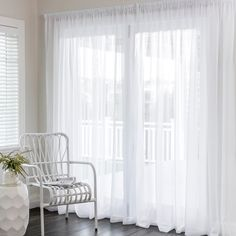 Florence White - Readymade Sheer - Curtain Studio buy curtains online