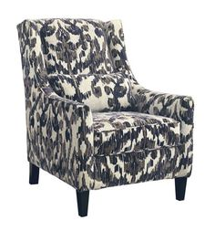 Classic high-back chair gets a modern makeover. Owensbe accent chair sports a Bohemian-chic ikat fabric that beautifully goes with the flow, as do sinuously sloped arms that strike quite a dramatic profile.