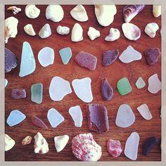 2013.8.14 夏の思い出。 娘が海に行く度必死で拾ってくる貝殻達。 宝石みたい… - @sackysacky- #webstagram