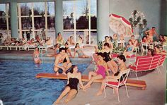 A Compendium of Vintage Pool Parties Concord Hotel indoor pool Kiamesha Lake, NY Retro Swim, Retro Summer, Hotel Swimming Pool, Hotel Pool, Vintage Hotels, Vintage Travel, Concord Hotel, Catskill Resorts, Pool Picture