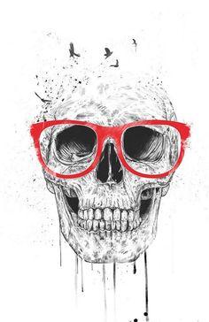 Skull with red glasses - soltib Caveiras, Oculos Vermelho, Estampas,  Desenhos, Impressões fda4c011da