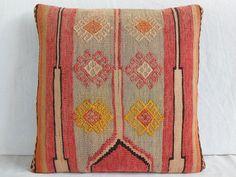 50 Y OLD MODERN Bohemian Home Decor,Handwoven Turkish Kilim Pillow Cover 16 X 16,Decorative Kilim Pillow,Vintage Kilim Pillow,Throw Pillow via Etsy