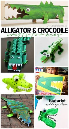 Creative Alligator & Crocodile Crafts for Kids to Make!   CraftyMorning.com