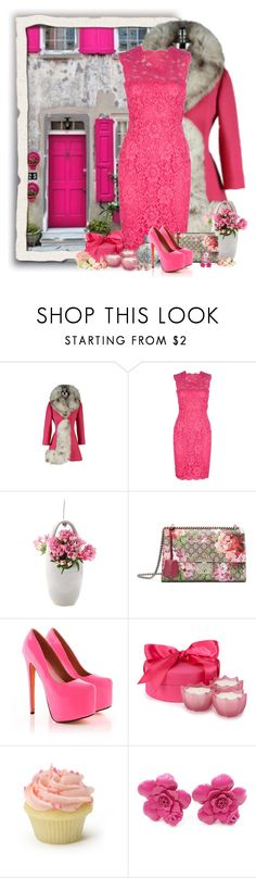 """""""Vestidos com casacos"""" by sil-engler ❤ liked on Polyvore featuring Valentino, Chive, Gucci, D.L. & Co. and Chanel"""