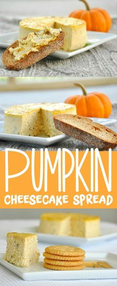 We love this easy and impressive appetizer for Thanksgiving: Savory Pumpkin Basil Cheesecake Spread