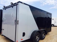 2015 Cargo Mate Black out motorcycle trailer Motorcycle Trailer | Enclosed Trailers, Cargo trailers, concession trailer, race trailers Waco, Dallas and Austin Texas