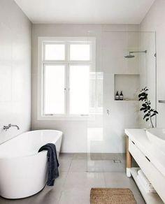 Stunning Modern Minimalist Bathroom Design Ideas With White Color . - Stunning Modern Minimalist Bathroom Design Ideas With White Color - Scandinavian Bathroom Design Ideas, Minimalist Bathroom Design, Modern Bathroom Design, Bathroom Interior Design, Modern Minimalist, Bathroom Designs, Modern Design, Beautiful Small Bathrooms, Amazing Bathrooms