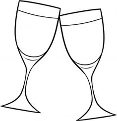 how to draw wine glasses step 7