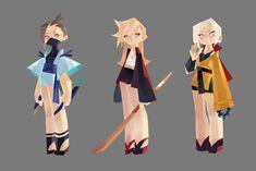 ArtStation - Assassin,Swordsman and monk, kakar cheung Character Model Sheet, Game Character Design, Character Modeling, 3d Character, Character Design Inspiration, Character Concept, Concept Art, Rendering Art, 3d Fantasy