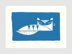 Blue Cat by biroRobot | Screen Prints | Design Supremo