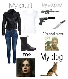 """Me if I was in The Walking Dead❤"" by moose33 ❤ liked on Polyvore featuring New Look and Max 'n Chester"