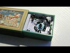 Tiny mechanical music box with a moving scenery playing Jingle Bells. Mr Christmas, Match Boxes, All Heart, Jingle Bells, Count, Decorative Boxes, Christmas Decorations, Hearts, My Love