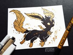 virize Gilded Eeveelutions Series: Leafeon I always imagine Leafeon as if it's dancing on the wind, much like a real leaf