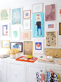 DIY Wall Decor | Gallery wall with kids artwork