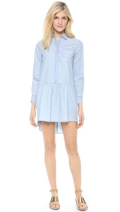 MiH The Gathered Shirtdress Super cute for spring.