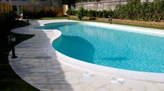 Swimming pool edge in Modica stone stone supply and laying