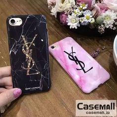 YSL アイフォン7ケース ペア iPhone7プラスカバー 大理石柄 イブサンローラン iPhone6s plus携帯ケース ジャケット型 iPhone6sケース おしゃれ ソフトケース ピンク ブラック