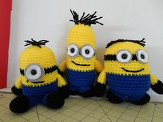 Crochet Crafts: Minion Inspired Crochet Softie