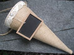 Burlap Pew Cone Wedding Decorations Rustic by AWorkofHeartSA, $20.00