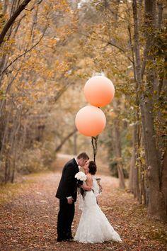 Jumbo peach balloons for photos