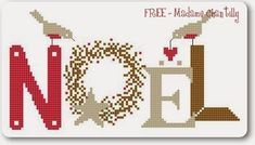 Madame Chatilly - Freebie - Colori DMC consigliati: Rosso: 304 Marrone:3862 Grigio: 642 Bianco: White