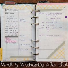 Week 5 Wednesday After Shot #filofax #daytimer #franklincovey #diyfish #lifemapping  #planner #organization #planning #paper #etsy