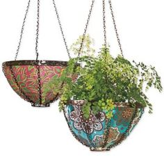 Hanging art planters look good while promoting lusher, healthier flowers. Buy 3 & Save!