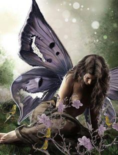≍ Nature's Fairy Nymphs ≍ magical elves, sprites, pixies and winged woodland faeries - Fairy Dust, Fairy Land, Fairy Tales, Magical Creatures, Fantasy Creatures, Fantasy World, Fantasy Art, Fantasy Fairies, Elfen Tattoo