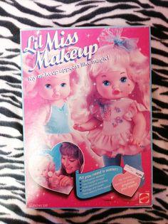 Mattel 1988 1980s 80s toy toys Vintage Little Lil Miss Makeup make-up doll. $65.00, via