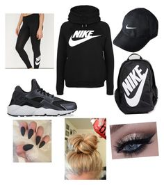 """""""Untitled #20"""" by liltlegearheart ❤ liked on Polyvore featuring NIKE"""