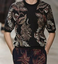 patternprints journal: PRINTS, PATTERNS, TEXTURES AND TEXTILE SURFACES FROM MENSWEAR S/S 2016 COLLECTIONS / PARIS CATWALKS Dries Van Noten