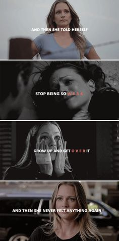 "And then she told herself ""stop being so weak, grow up and get over it"" and then she never felt anything again. #cm"
