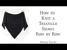 FREE Triangle Shawl Knitting Pattern Tutorial