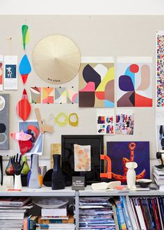 Dinosaur Designs behind the scenes - Stephen Ormandy's impressive pinboard.   Photo - Sean Fennessy for thedesignfiles.net